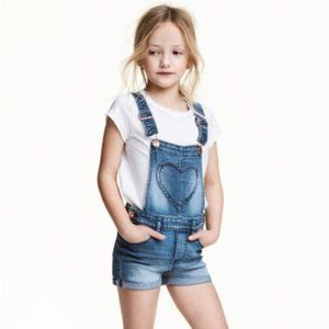 H&M Heart Pocket Overall Shorts